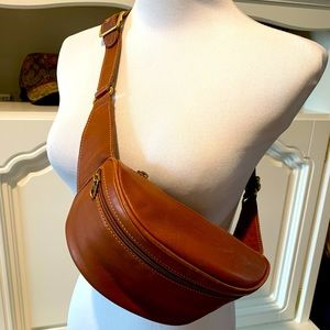 Vtg Coach 0515 leather belt fanny pack